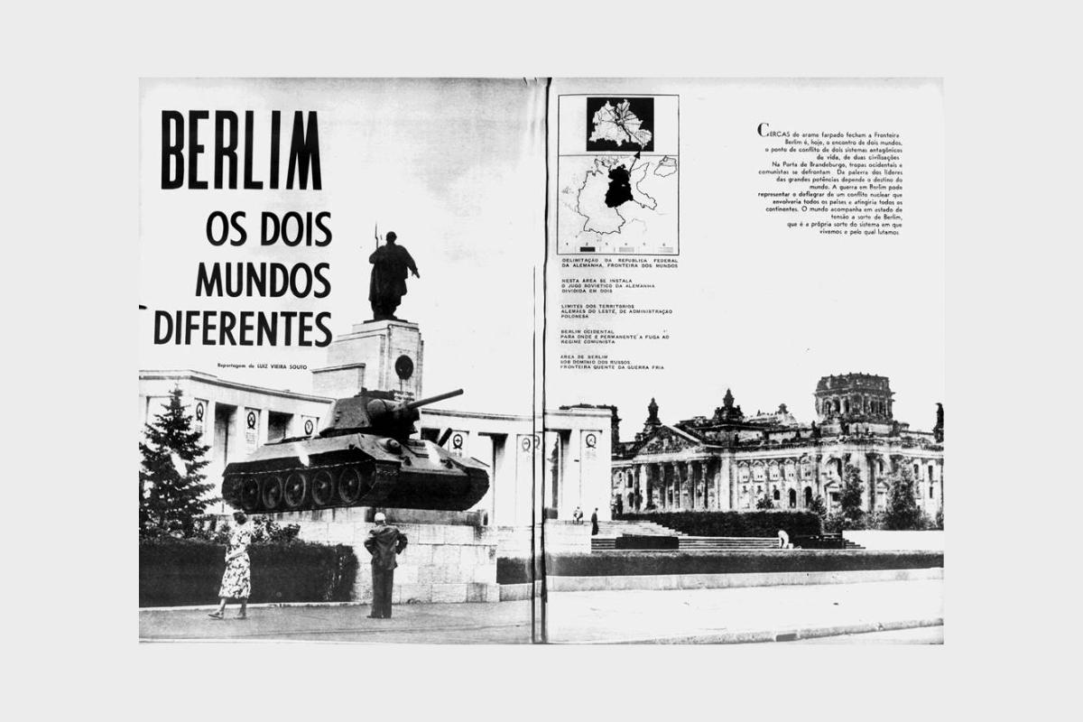 Berlim - Os 2 Mundos Diferentes - Mundo Ilustrativo RJ - 1961 - Edição 194 - Páginas 42 e 43